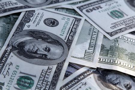 Pieniądze Tło z amerykańskich sto dolarów rachunki Zdjęcie Seryjne