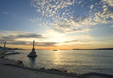 Sevastopol bay at beautiful sunset. Crimea