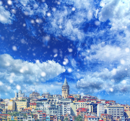 Bosphorus with a old town on a background, Istanbul Travel and business concept Zdjęcie Seryjne - 92915165