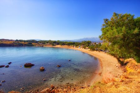 Crete, Greece near Chania town. travel background
