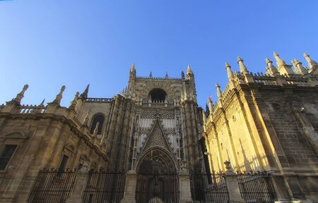 Seville Cathedral (Catedral de Santa Maria de la Sede), Gothic style architecture in Spain, Andalusia Zdjęcie Seryjne
