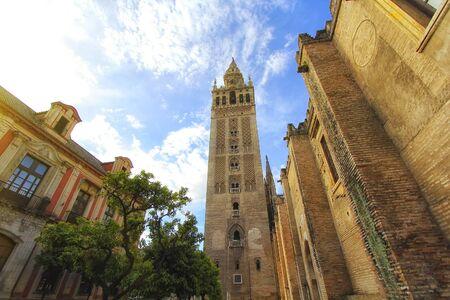 Seville Cathedral (Catedral de Santa Maria de la Sede), Gothic style architecture in Spain, Andalusia Zdjęcie Seryjne