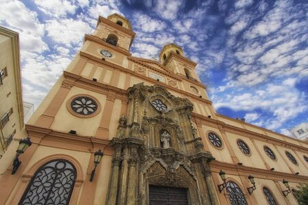 Dome of Cadiz at the style, Andalusia, Spain. Vintage style travel background