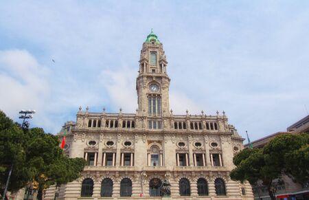Porto City Hall, Liberdade Square, Porto, Portugal Zdjęcie Seryjne