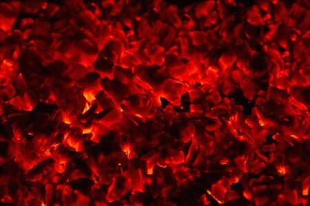 abstract background bright red coals texture. Inferno bonfire stove design composition Zdjęcie Seryjne