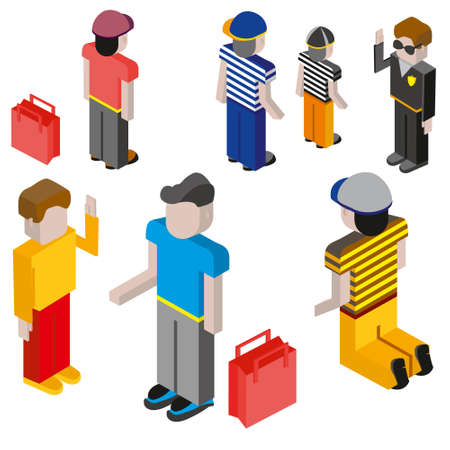 diferentes profesiones: Flat 3d people of different professions