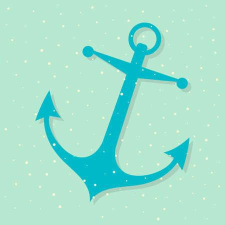 Anchor icon , vector illustration Ilustrace