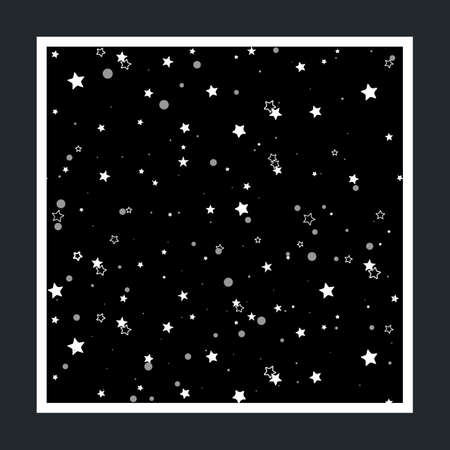 starry night: Background of the starry sky. pattern with stars. Vector background.
