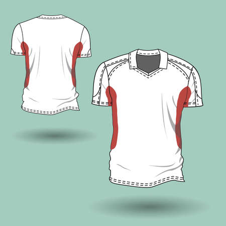 Illustration of mens and womens t-shirt.