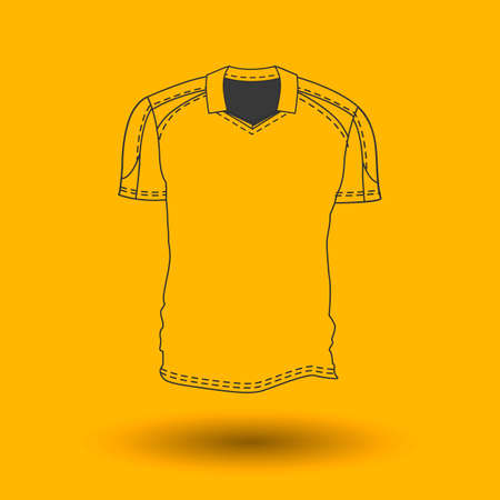 Vector illustration of mens and womens t-shirt. Sport clothes.
