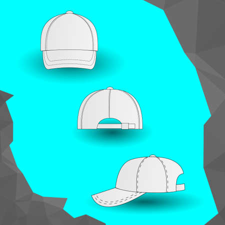 national identity: White baseball cap icon