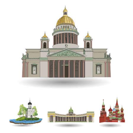Russia. Vettore. Silhouette. Icona. Segno