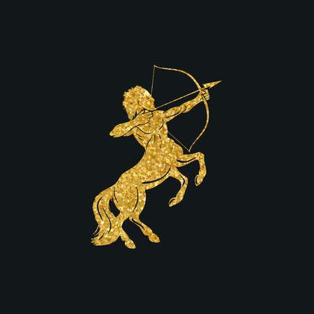 Centaur concept van mythische centaur archer horse man karakter met een pijl en boog