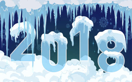 ice: A snow cap. Snowy elements on winter background. Vector template in cartoon style for your design. Illustration