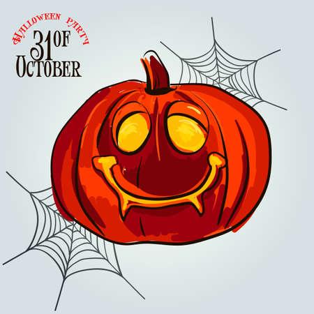 Set pumpkins for Halloween vector Illustration