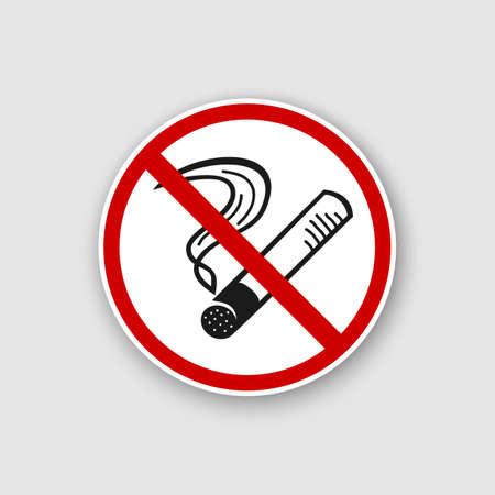 No smoking sign Vector illustration. Illustration