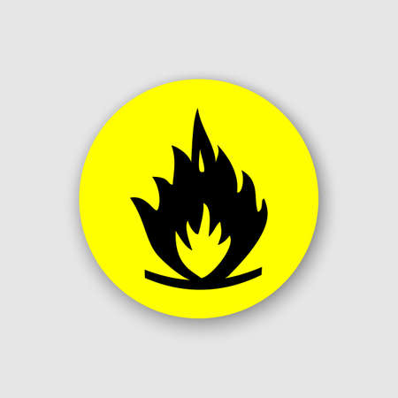 Fire warning sign sticker