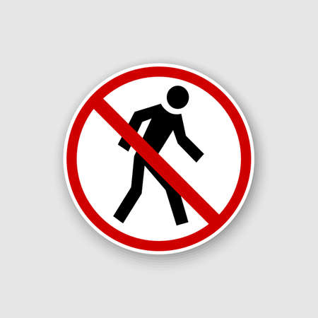 Do not run. Running prohibited vector illustration 向量圖像