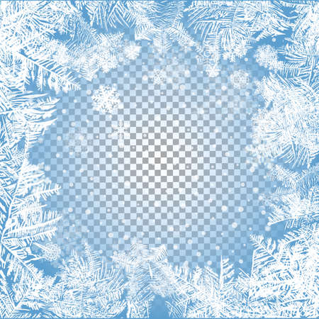 2018 New Year on ice frosted background. Global colors. One editable gradient is used for easy recolor Illustration