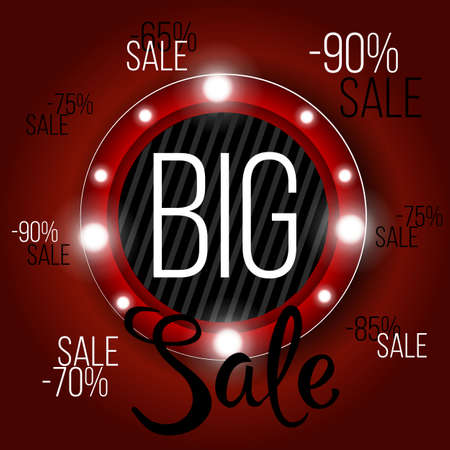 Big Sale banner, this weekend special offer advertising banner template, vector