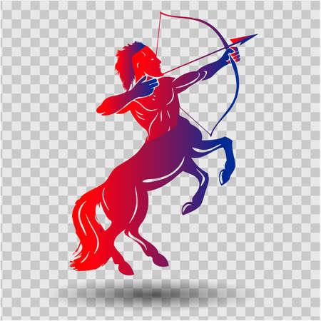 Een mooi en elegant Boogschutter sterrenbeeld silhouet - vector en illustratie voor t-shirt, kussen en beker print Vector Illustratie