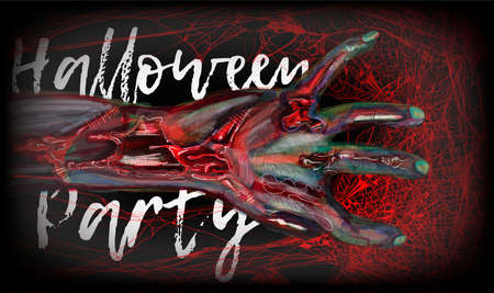 halloween zombie hand. ector clip art illustration
