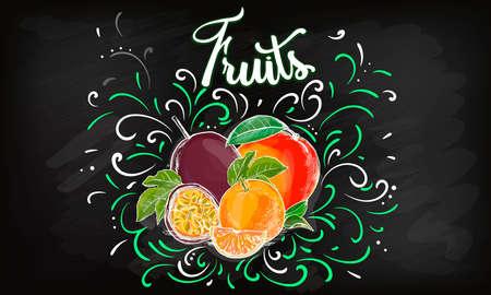 sweet apple vector logo design template. fresh fruit, food or menu board icon.