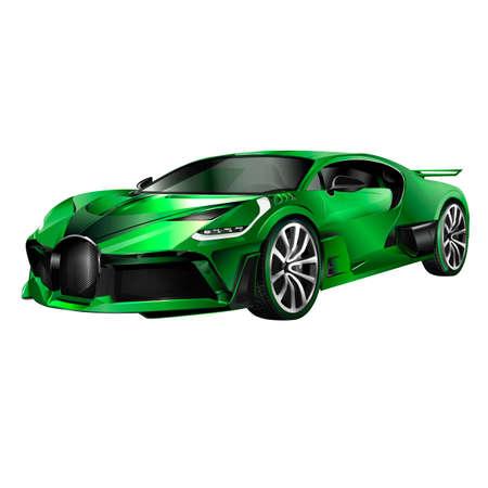 Super car design concept. Unique modern realistic art. Generic luxury automobile. Car presentation side view. 3D illustration 写真素材 - 120282025