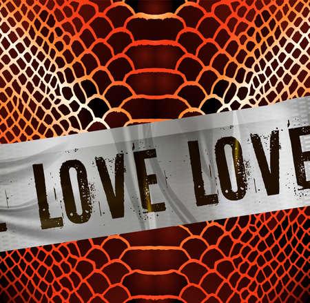 slogan love strip vector illustration Illustration