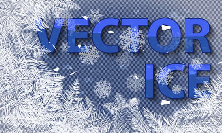 Textures blue ice. Ice rink. Winter background. Overhead view. Vector illustration nature background. Vector ice