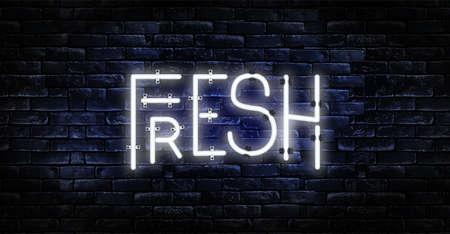Fresh Neon Light Glowing Yellow Light Bright Banner Ilustração