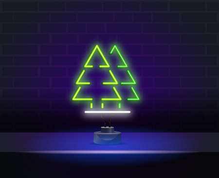 forests neon style icon. Simple thin line, outline vector of landspace icons for ui and ux, website or mobile application