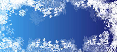 Hoarfrost transparent vector background. Frost, christmas, winter holiday background element. can be used for a Christmas sale or a New Years leaflet.