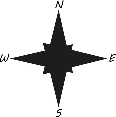 black stylish compass Ilustrace