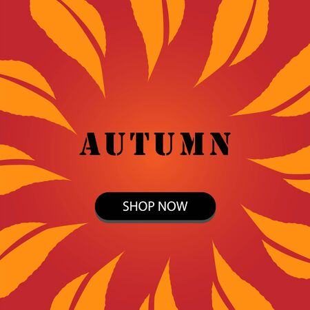 Autumn sale background layout decorate with leaves for shopping sale
