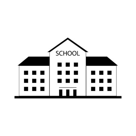 School building icon on a white background Illustration