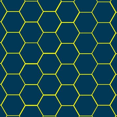 Vector honeycomb on a blue background. Vector bulletproof vest. Banque d'images - 129950607