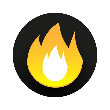 vector flat fire icon on a white background