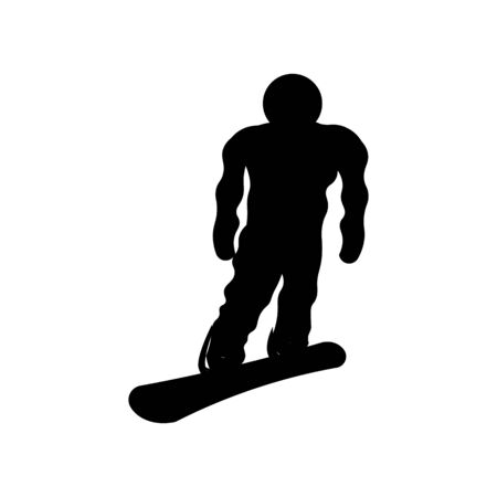 vector snowboarder icon on a white background 向量圖像