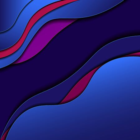 vector background with rounded shapes with shadows  イラスト・ベクター素材