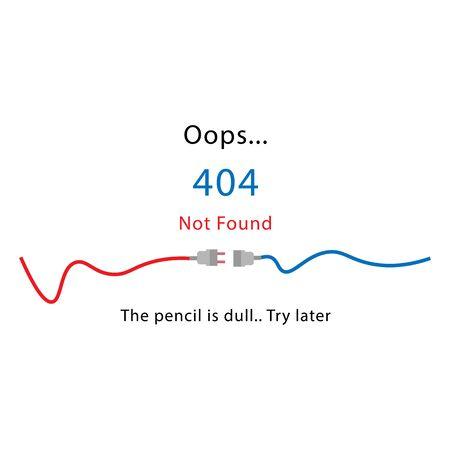 Página de error 404 no encontrada aislada en fondo blanco