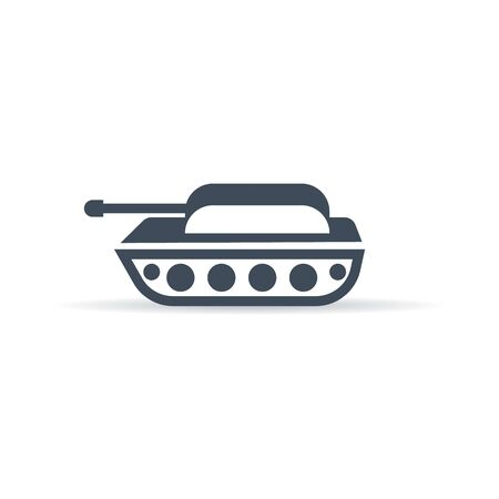 vector military vehicle icon - 3d style tank