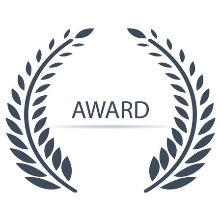 Vector award ceremony icon with olive branches