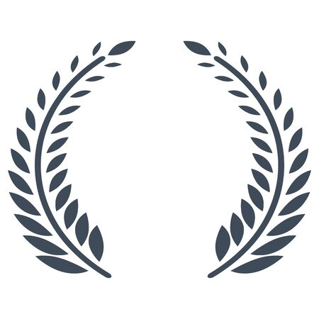 Olive branches vector icon for award ceremony Ilustracja