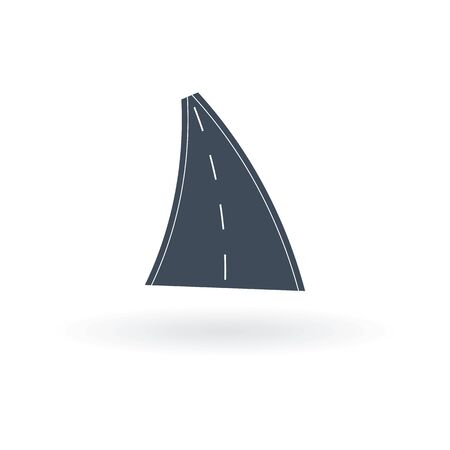 Vector car road icon on a white background