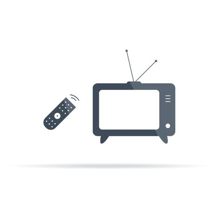 vector TV and remote control icon with flare 版權商用圖片 - 147918264
