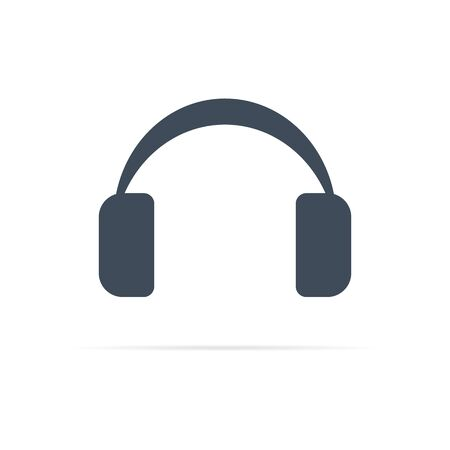vector headphone icon for computer or phone