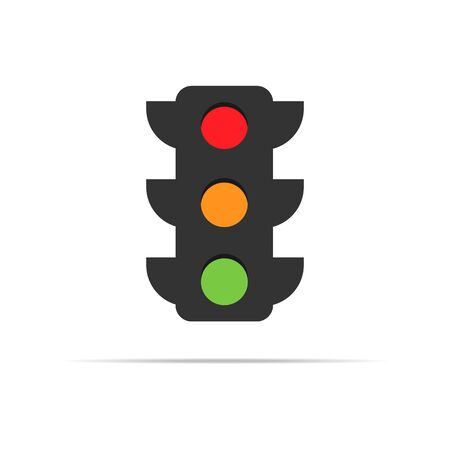 traffic light vector icon with many color sections 向量圖像