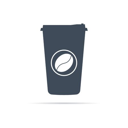 vector cup of sugar coffee icon on background