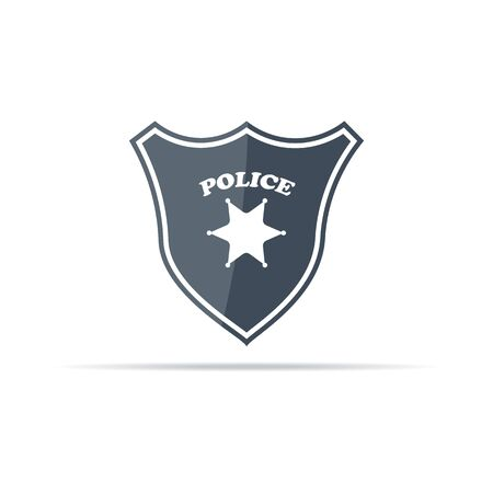 Police badge vector icon. Police Department badge.